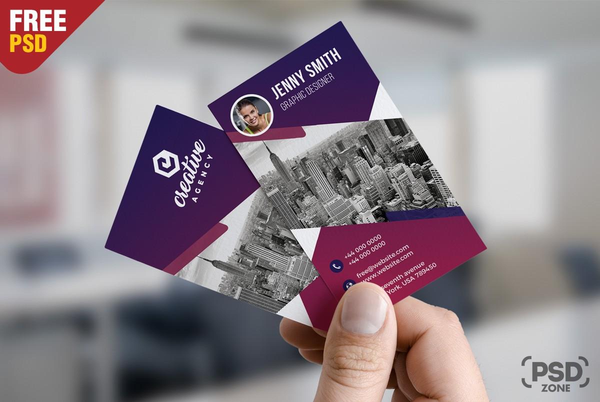Creative Vertical Business Card Template Psd Download Psd