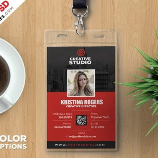 Employee Identity Card Template PSD