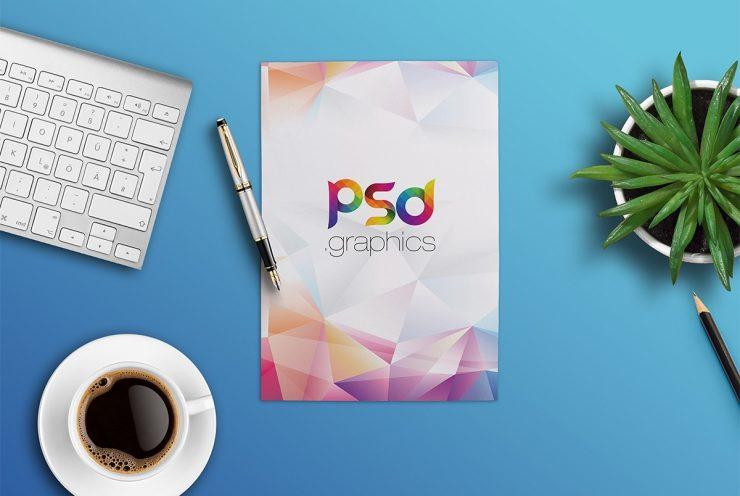 Free A4 Paper Mockup PSD