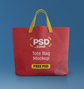 Free Canvas Tote Bag Mockup PSD