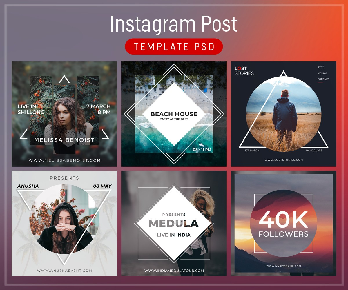 Instagram Post Template Free PSD Download Download PSD - Social media post template