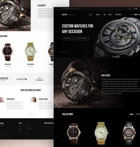 Luxury Watch Website Template PSD