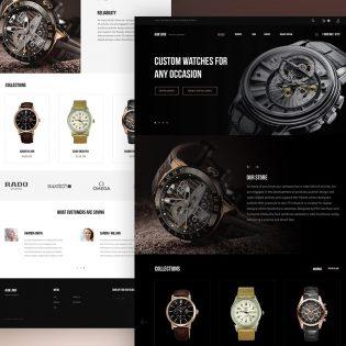 Luxury Watch Website Template PSD