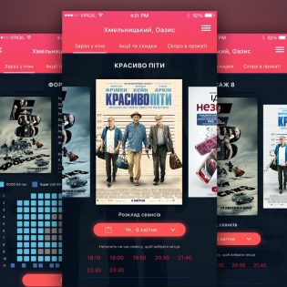 Movie Booking App Templates PSD