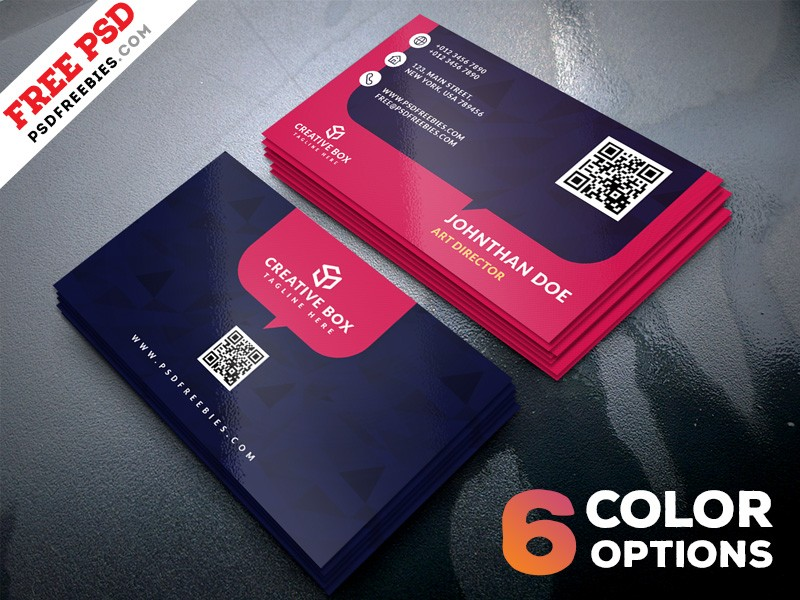 multicolor business card template psd  download psd