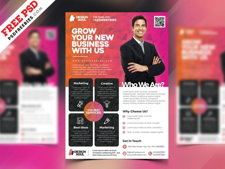 Multipurpose Corporate Flyer Template PSD