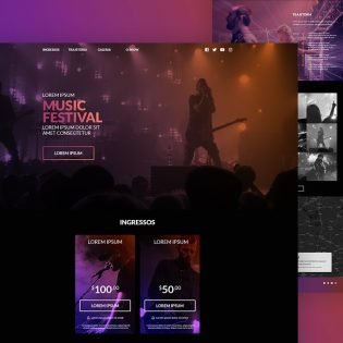 Music Festival Website Template PSD