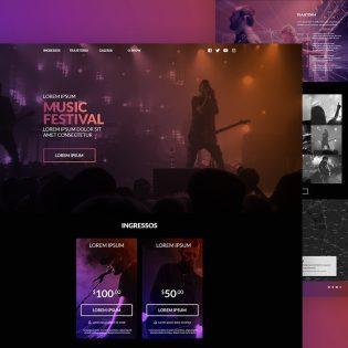 Music Festival Website Template PSD