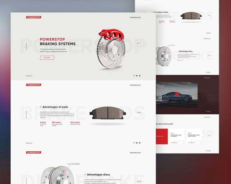 Product Website Landing Page Template PSD