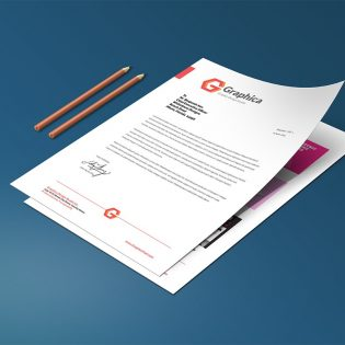 Resume and Cover Letter Mockup Template PSD
