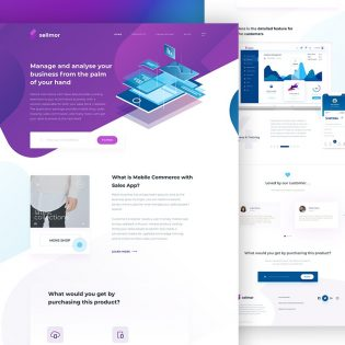 Sales App Landing Page Template PSD