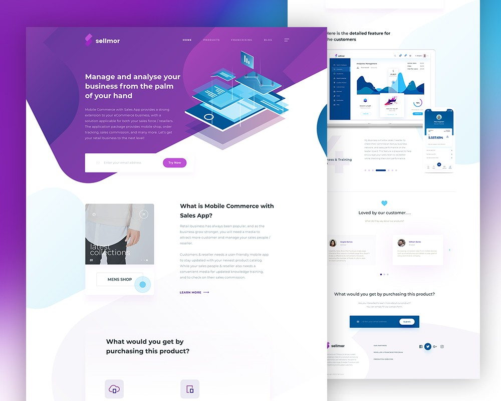 Sales App Landing Page Template PSD Download Download PSD - Sales landing page template