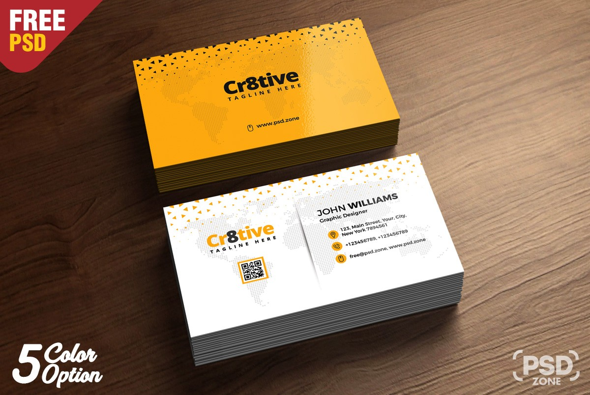 Simple Business Card Design Template PSD Download PSD - Template for a business card