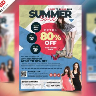 Summer Sale Flyer Template PSD