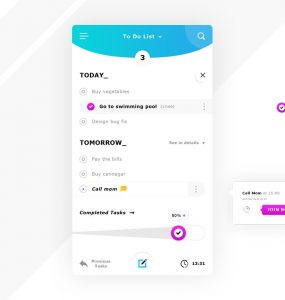To Do List App UI PSD