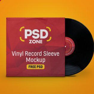 Vinyl Sleeve Mockup PSD