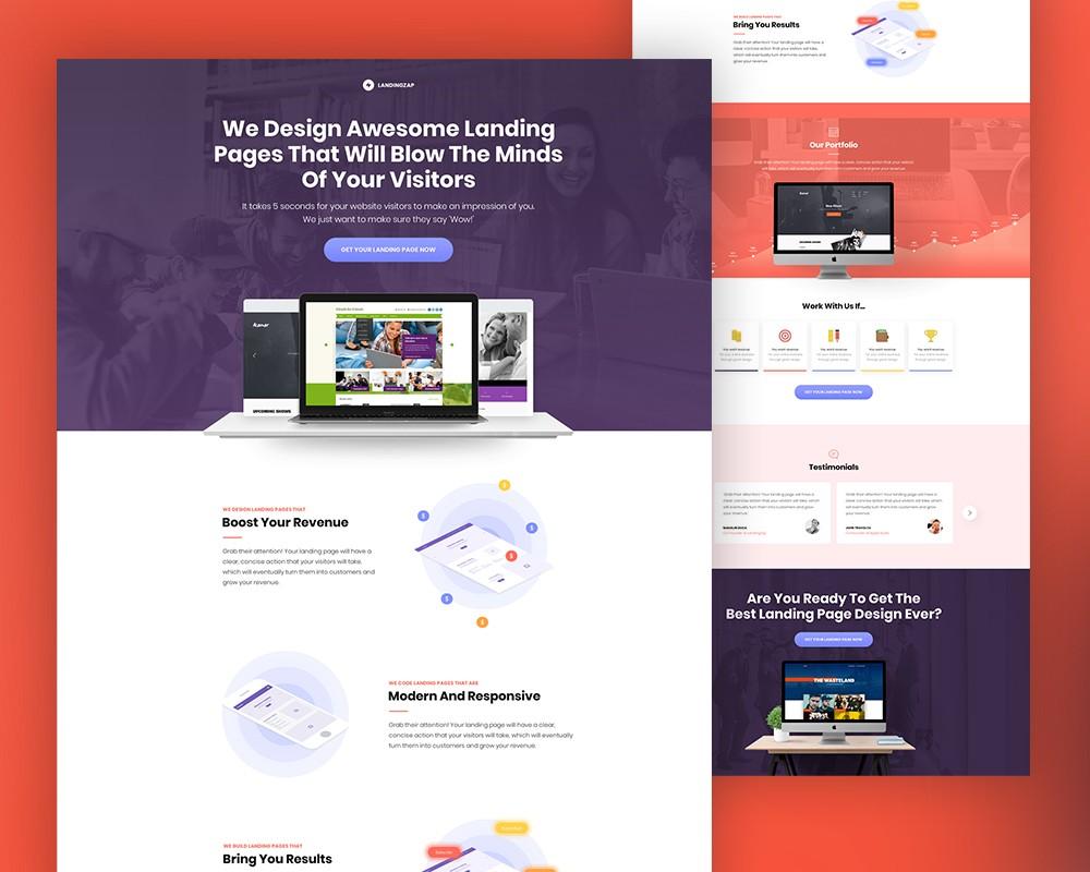 Web Design Company Website Template Download Download PSD - Web development company templates