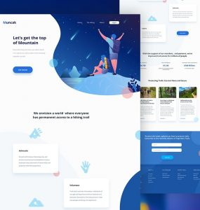 Adventure Website Template Free PSD