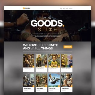 Animation Studio Website Template PSD