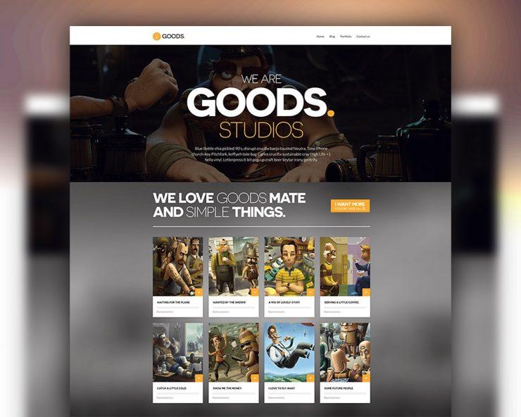 Animation Studio Website Template PSD
