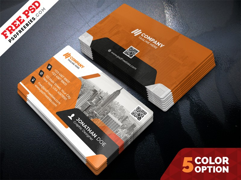 Corporate Business Card Template Download Download Psd