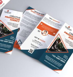 Corporate Tri-fold Brochure Template PSD