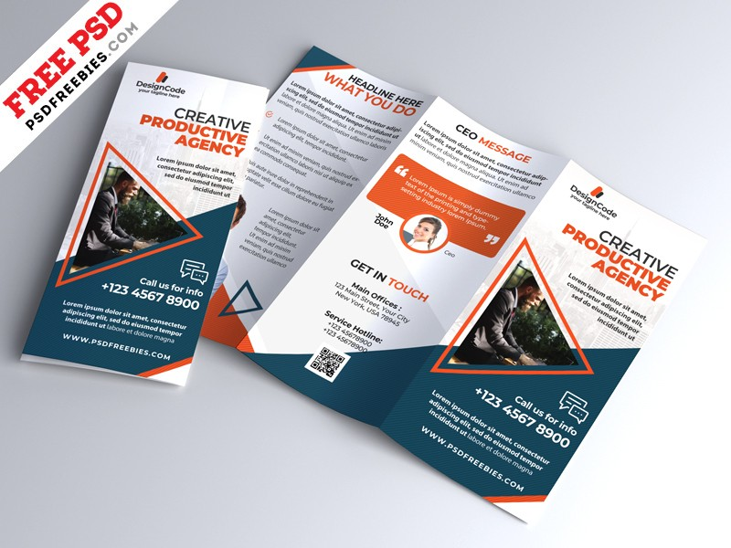 Corporate Tri Fold Brochure Template Psd Download Psd