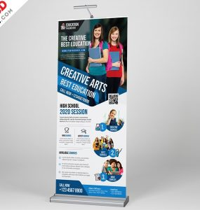 Education Roll up Banner Template PSD