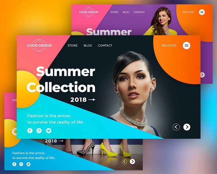 Fashion Header Banner Template PSD