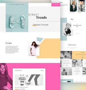 Fashion Website Template PSD