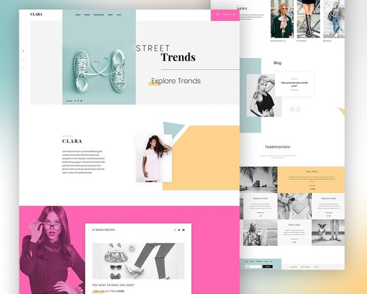 Fashion Website Template PSD