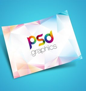 Floating Flyer Mockup PSD