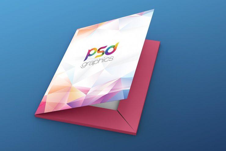 Folder Mockup Free PSD