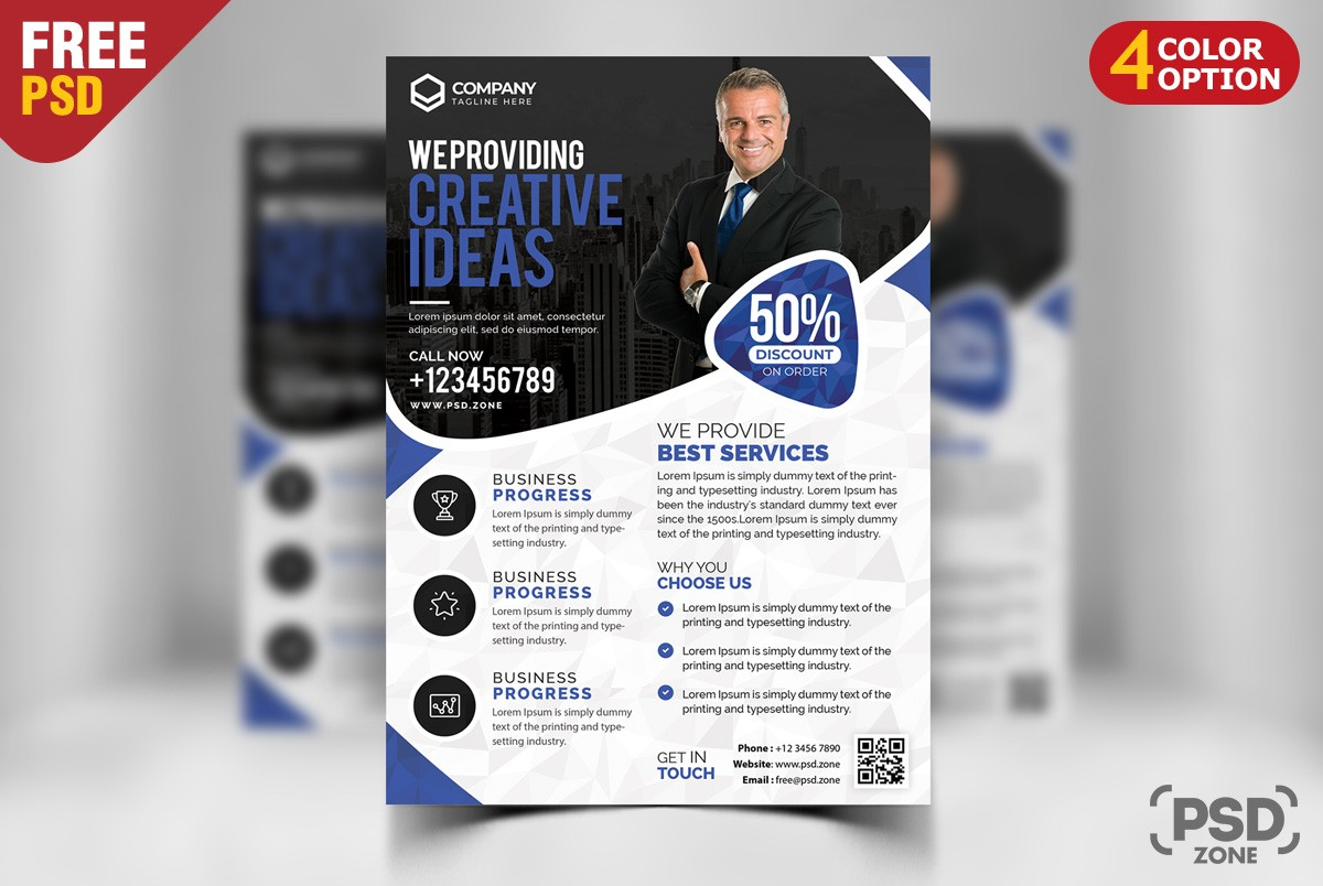 Free corporate business flyer psd download psd free corporate business flyer psd flashek Images
