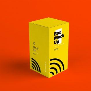 Free Paper Box Mockup PSD