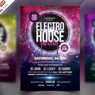 Free Party Flyer Template PSD