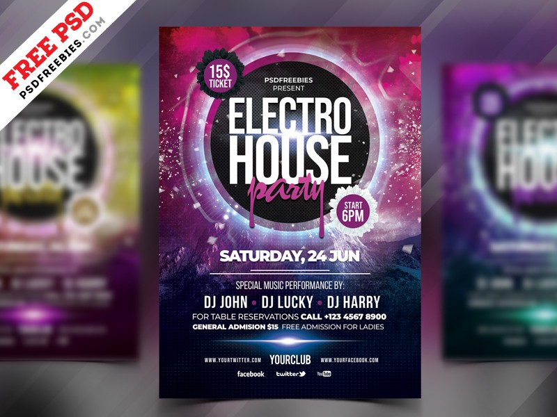 Free Party Flyer Template Psd Download Psd