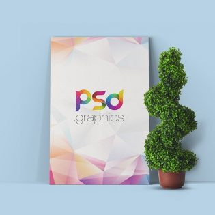 Free Poster Canvas Mockup PSD