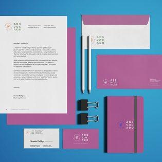 Office Stationery Branding Mockup PSD