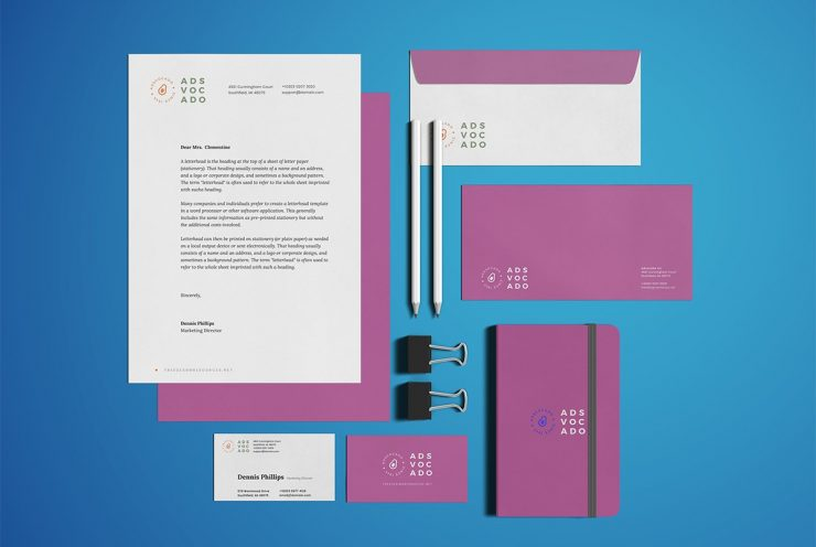 Office Stationery Branding Mockup PSD