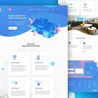 Real Estate Consultant Website Template PSD