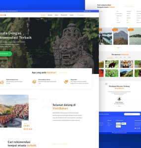 Travel Website Landing Page Template PSD