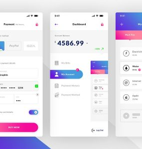 Bill Pay Mobile App UI PSD