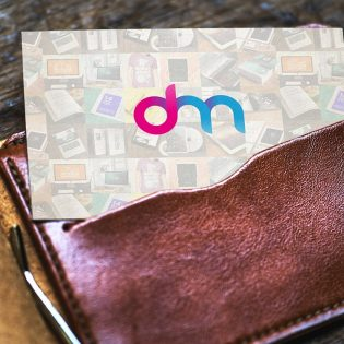Business Card in Wallet Mockup