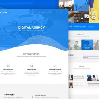 Clean Corporate Website PSD Template