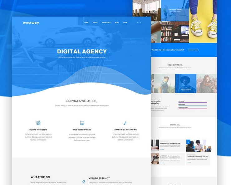 Clean Corporate Website PSD Template
