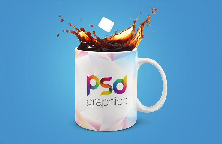 Coffee Mug Splash Mockup