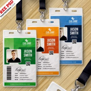 Corporate Identity Card Template PSD