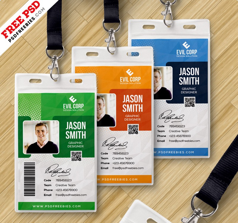 university id card template - corporate identity card template psd download psd