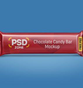Free Candy Bar Mockup PSD
